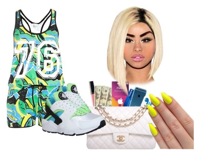 """"""""""" by keneariahnorman ❤ liked on Polyvore featuring River Island and NIKE"""