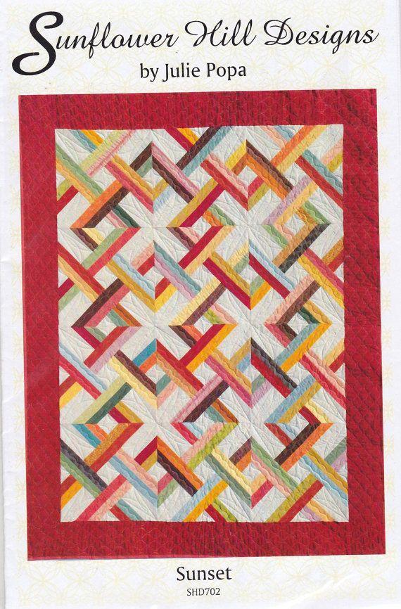 Jelly Roll) SUNSET quilt pattern by Sunflower Hill by ... : dessert roll quilt patterns free - Adamdwight.com