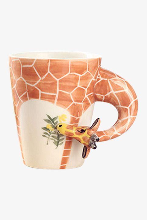 New 3D Animal Cutie Giraffe Caffe' Latte Mug