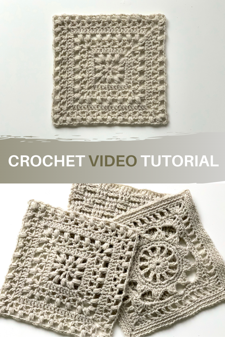 'Tulips from Holland' square 🌷 Free crochet video tutorial