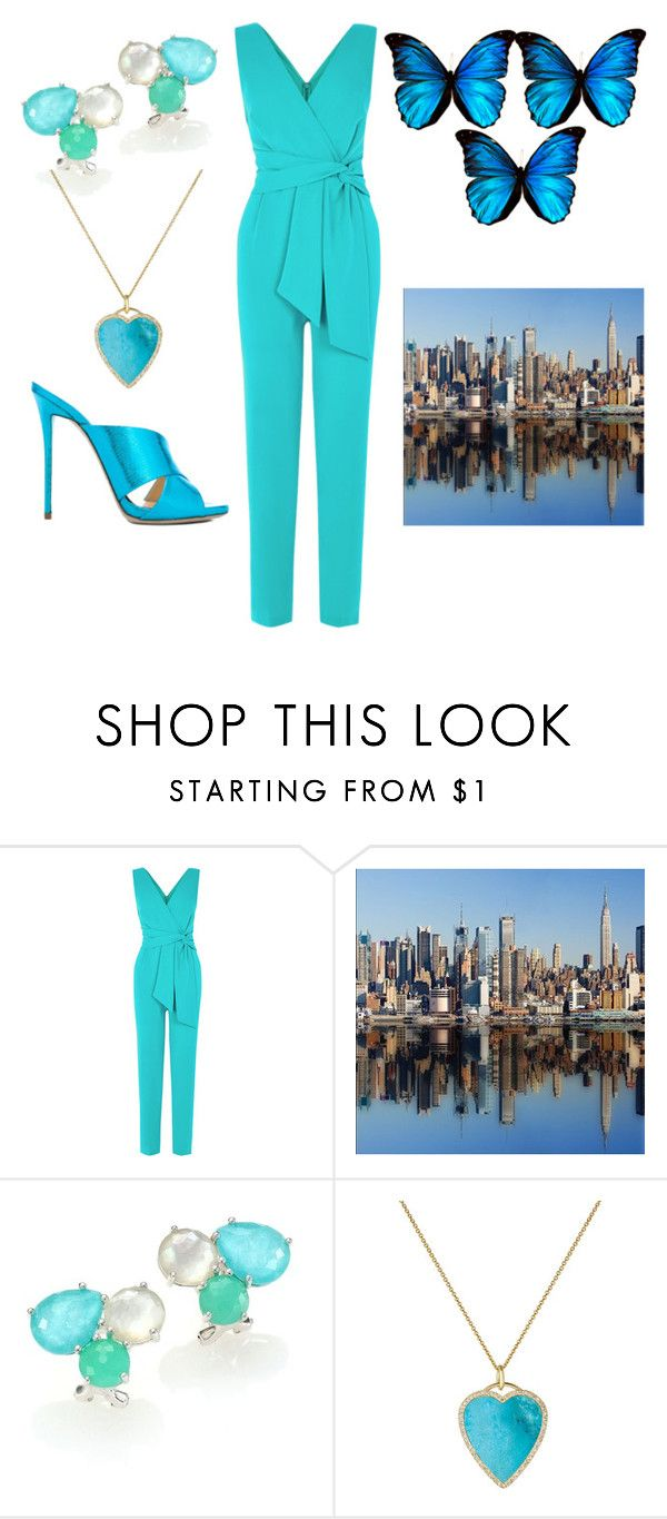 """""""Jumpsuit in New York City"""" by rubysal ❤ liked on Polyvore featuring Ippolita, Jennifer Meyer Jewelry, Giuseppe Zanotti and contestentry"""