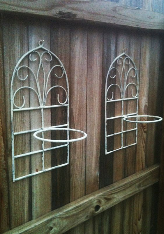 set of 2 vintage indoor outdoor wrought iron wall by kylenb