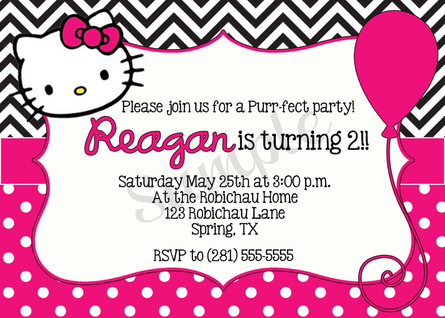 ... invitation card template, hello kitty invitation card free template