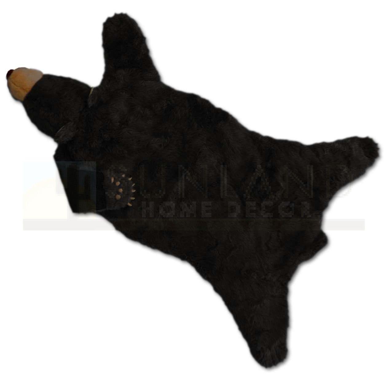 Sunland Home Decor Br101 Plush Animal Rug 58in Black Bear
