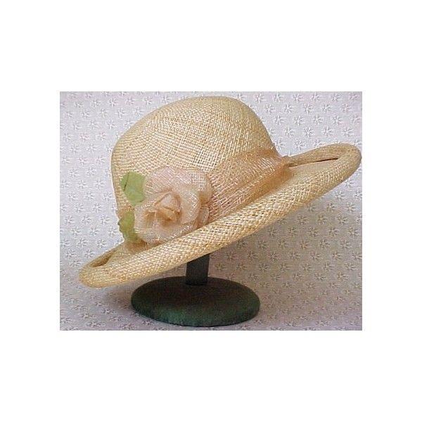 43bb72b65f786 Etsy    Vintage Fancy Straw Hat with Rose Liz Claiborne