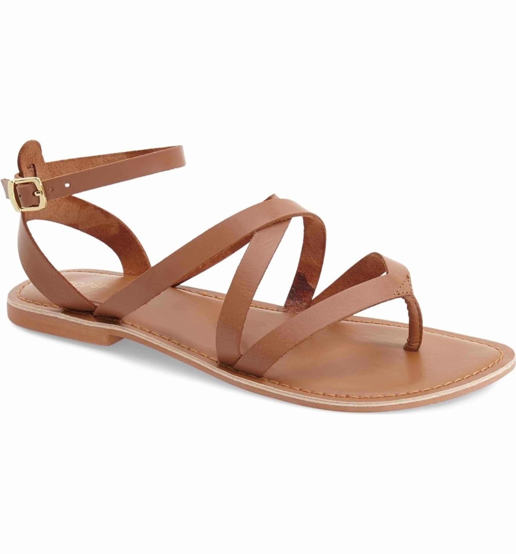 980bf7f117da Main Image - Topshop  Hercules  Strappy Leather Thong Sandal (Women ...