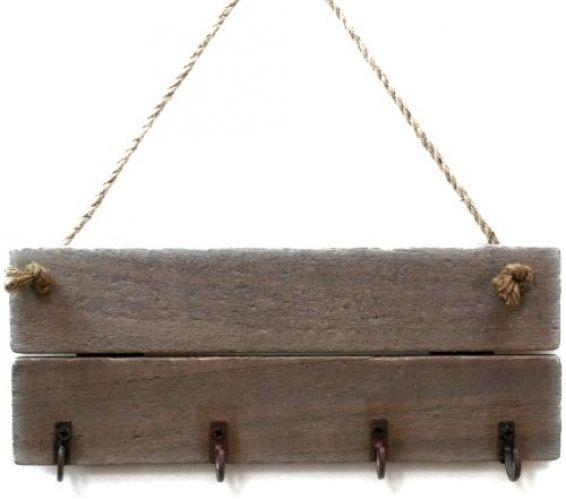 Shabby Chic Wooden Driftwood Wall Key Hook Holder    eBay