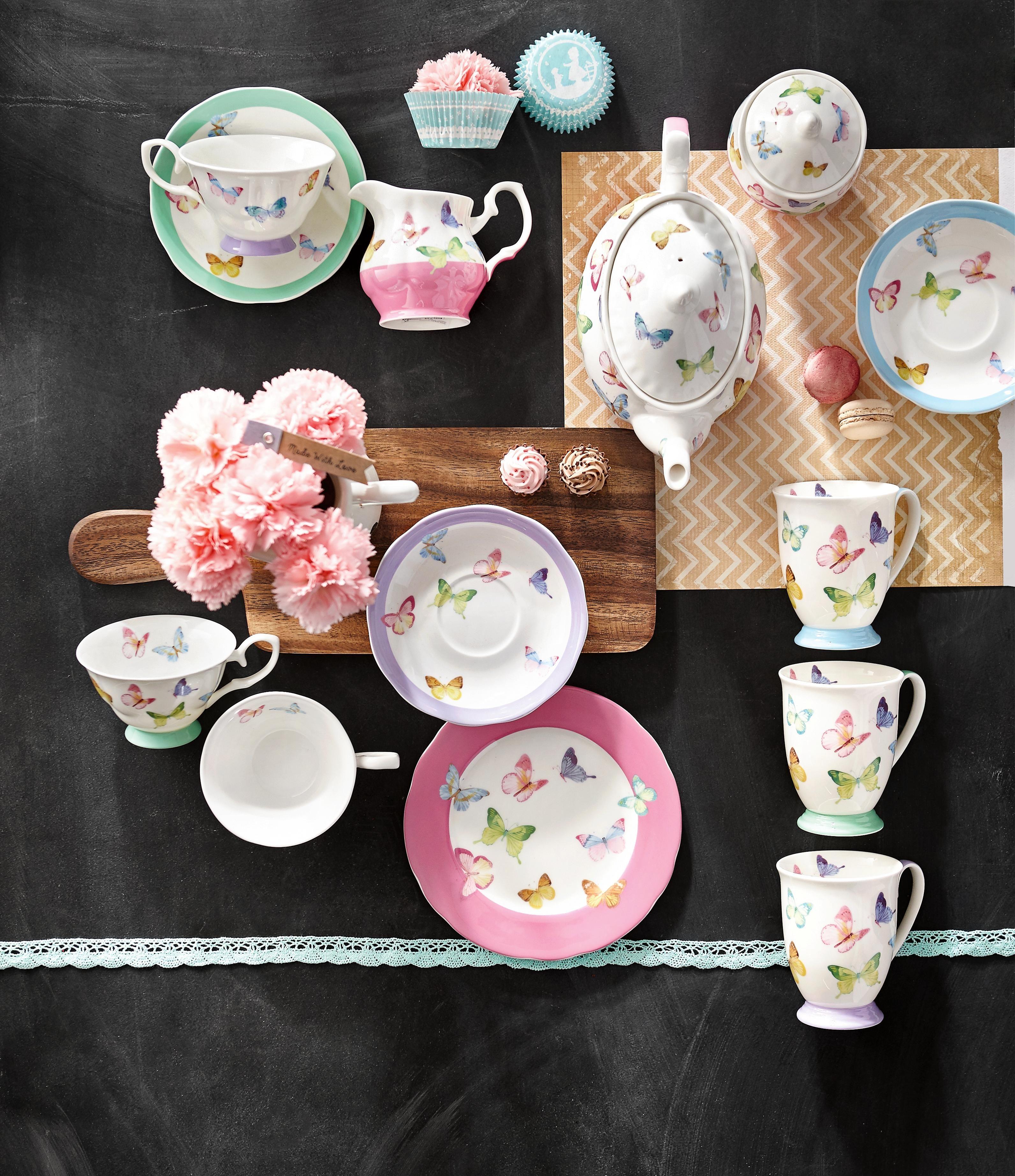 Das pastellfarbene Tee-Service von LANDSCAPE sorgt für harmonische ...