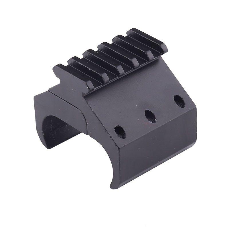20mm Rail Barrel Mount Clamp for Rifle Gun Scope flashLight Laser Bipod Adapter