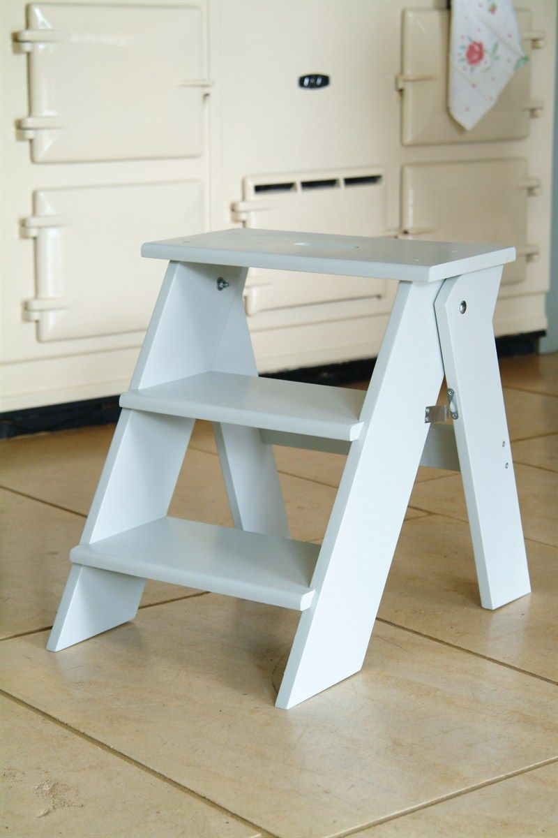 Folding Kitchen Step Stool in chalk at Garden Trading : 2 step folding plastic step stool - islam-shia.org