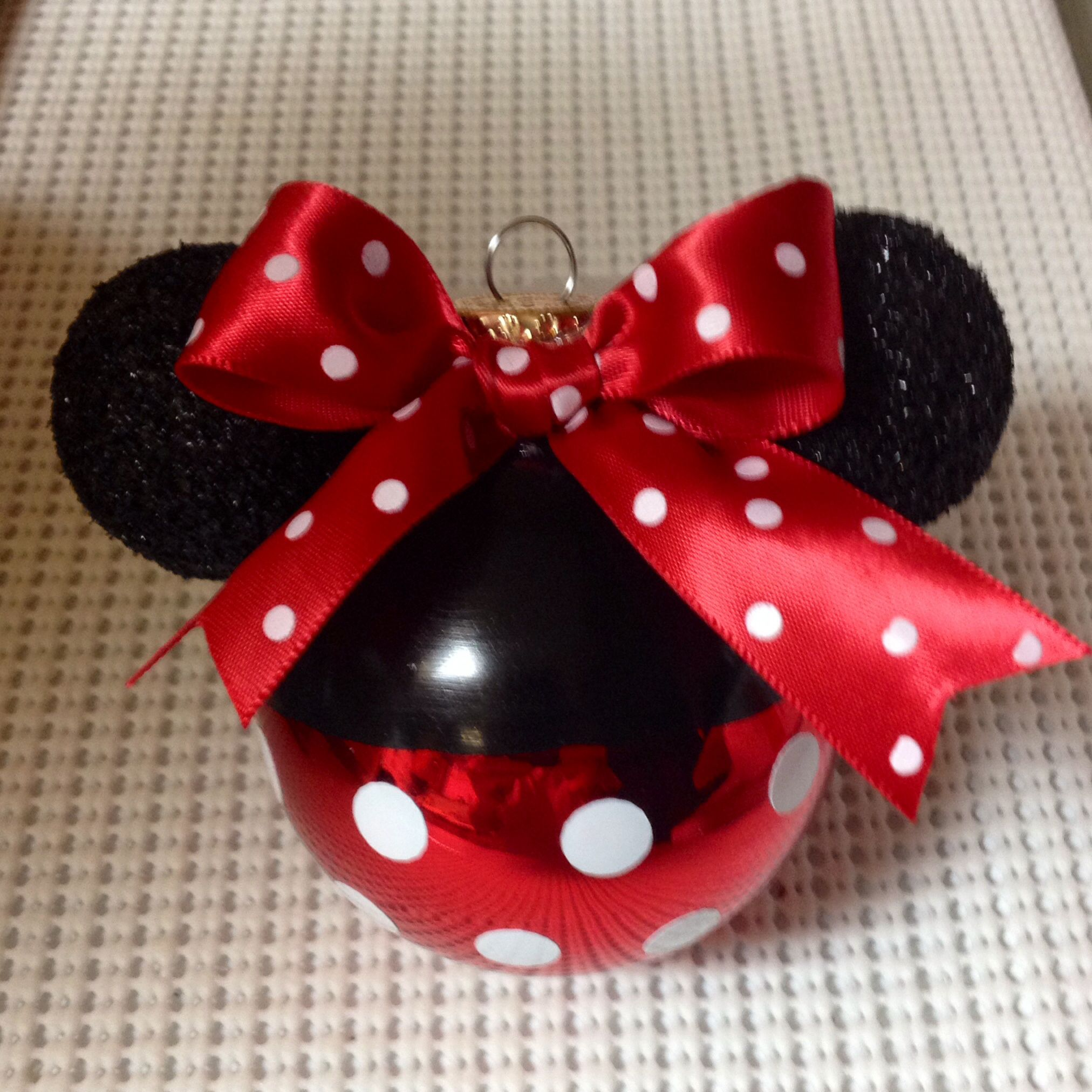 My 1st Minnie Mouse Ornament I Made For My Disney Tree Disney Christmas Ornaments Disney Christmas Tree Disney Christmas Decorations