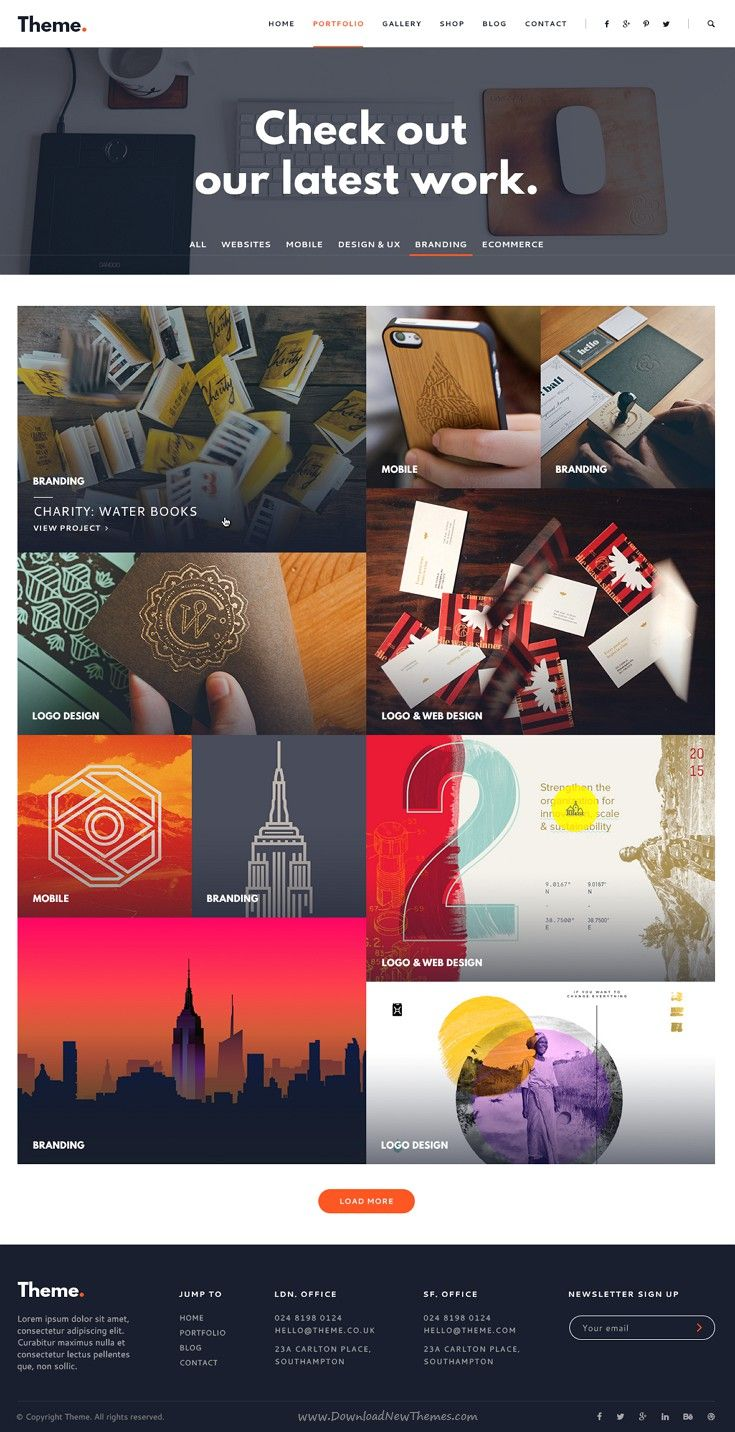 Theme Point Business Agency PSD Template – Point of Contact Template
