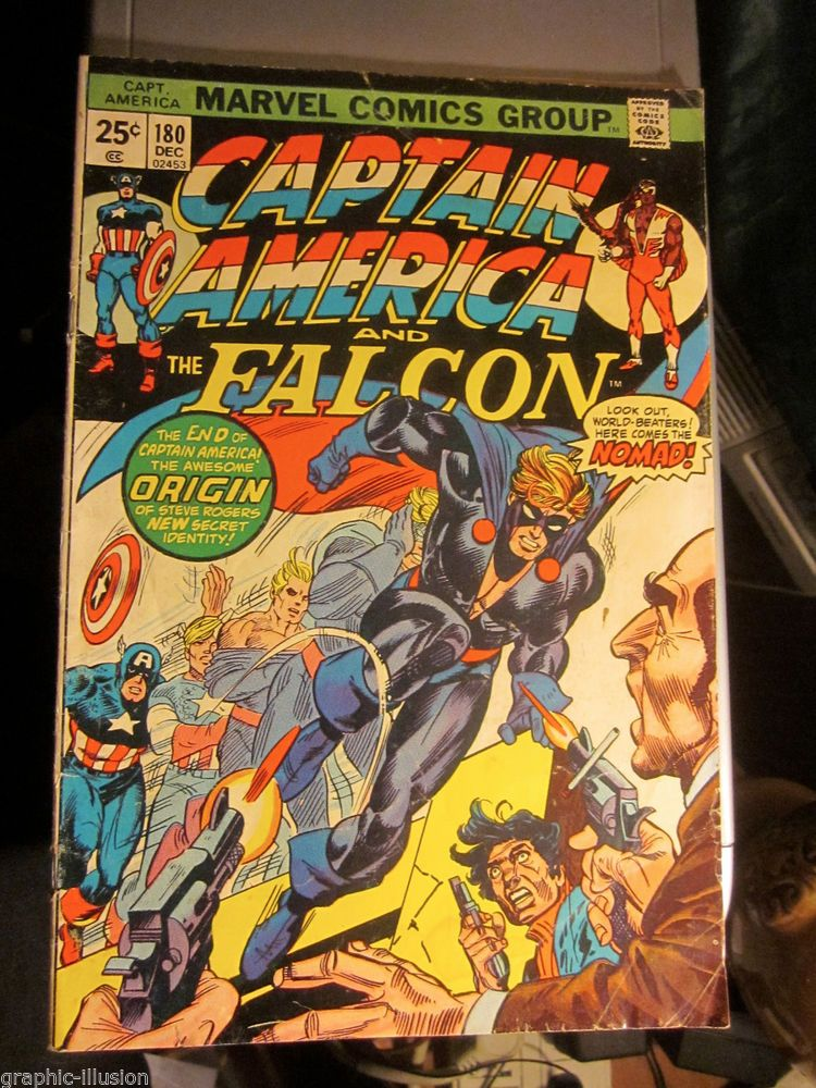 Captain America and Falcon #180 Intro and 1st NOMAD Key ORIGIN VG