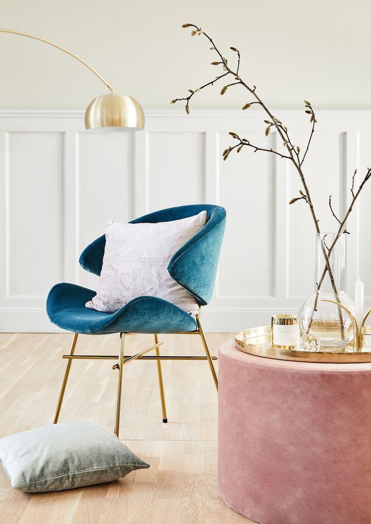 Samt Hocker Daisy In 2018 Wohnzimmer Pinterest   Elegante Deko Wohnzimmer