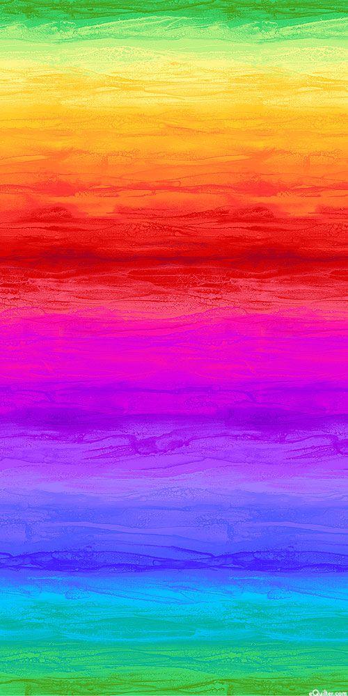 Wide Rainbow Ombre Stripe - Multi - DIGITAL PRINT