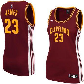 Adidas LeBron James Cleveland Cavaliers Womens Wine Replica Jersey