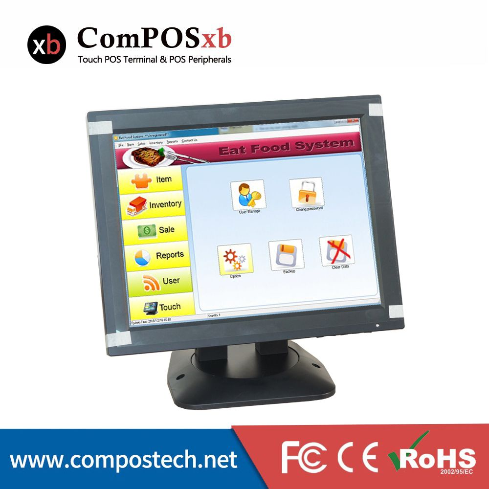 12 Inch Cheap Small Vga Powered Touch Screen Monitor With Rotatable Stand Computer Online Computer Peripherals Desktop Computers