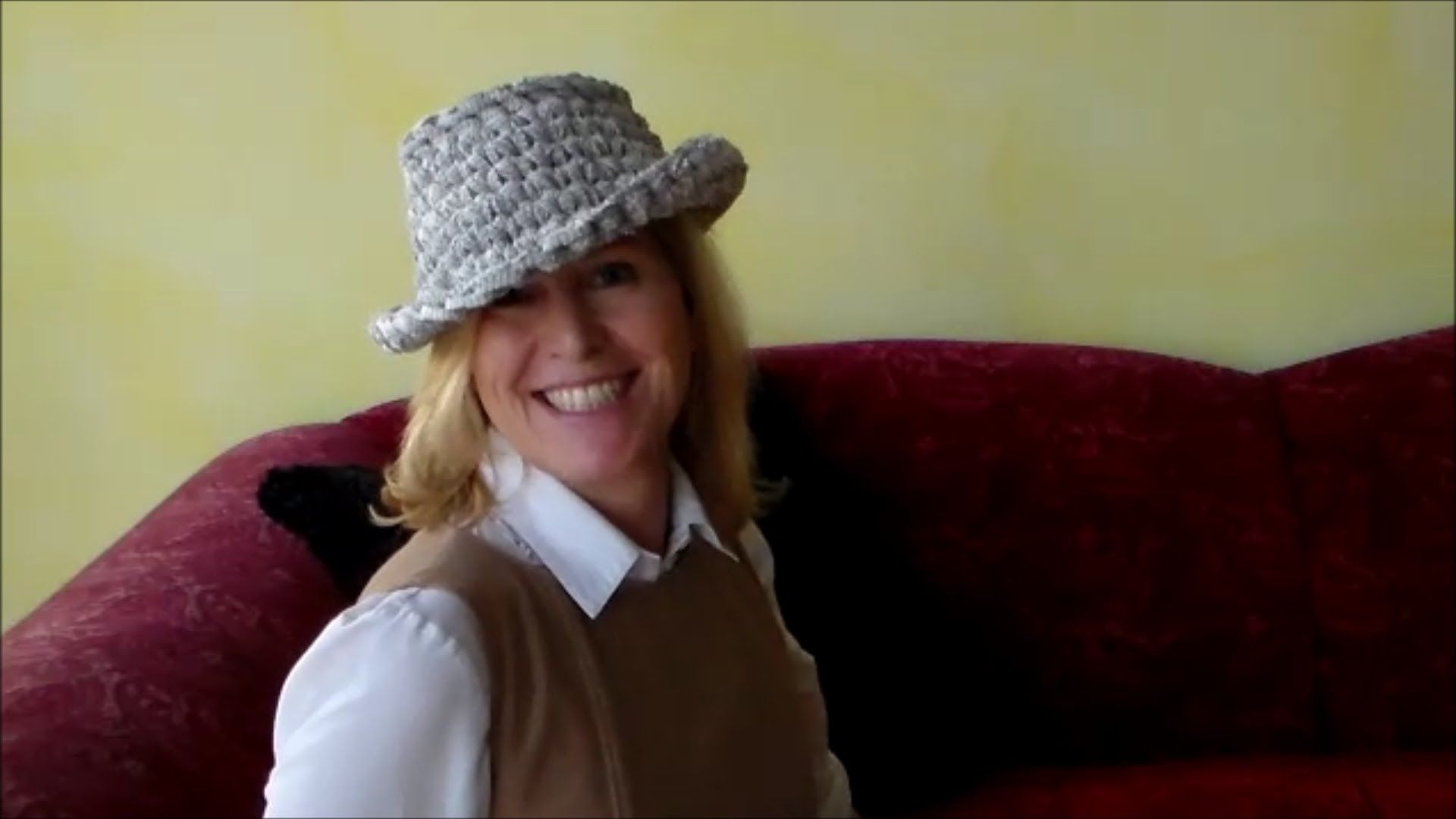 How to fashion - Modischer Hut zum selber häkeln   háčkované,pletené ...