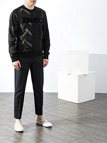 Wiberlux Kenzo Men's Geometric Pattern With Logo Sweatshirt