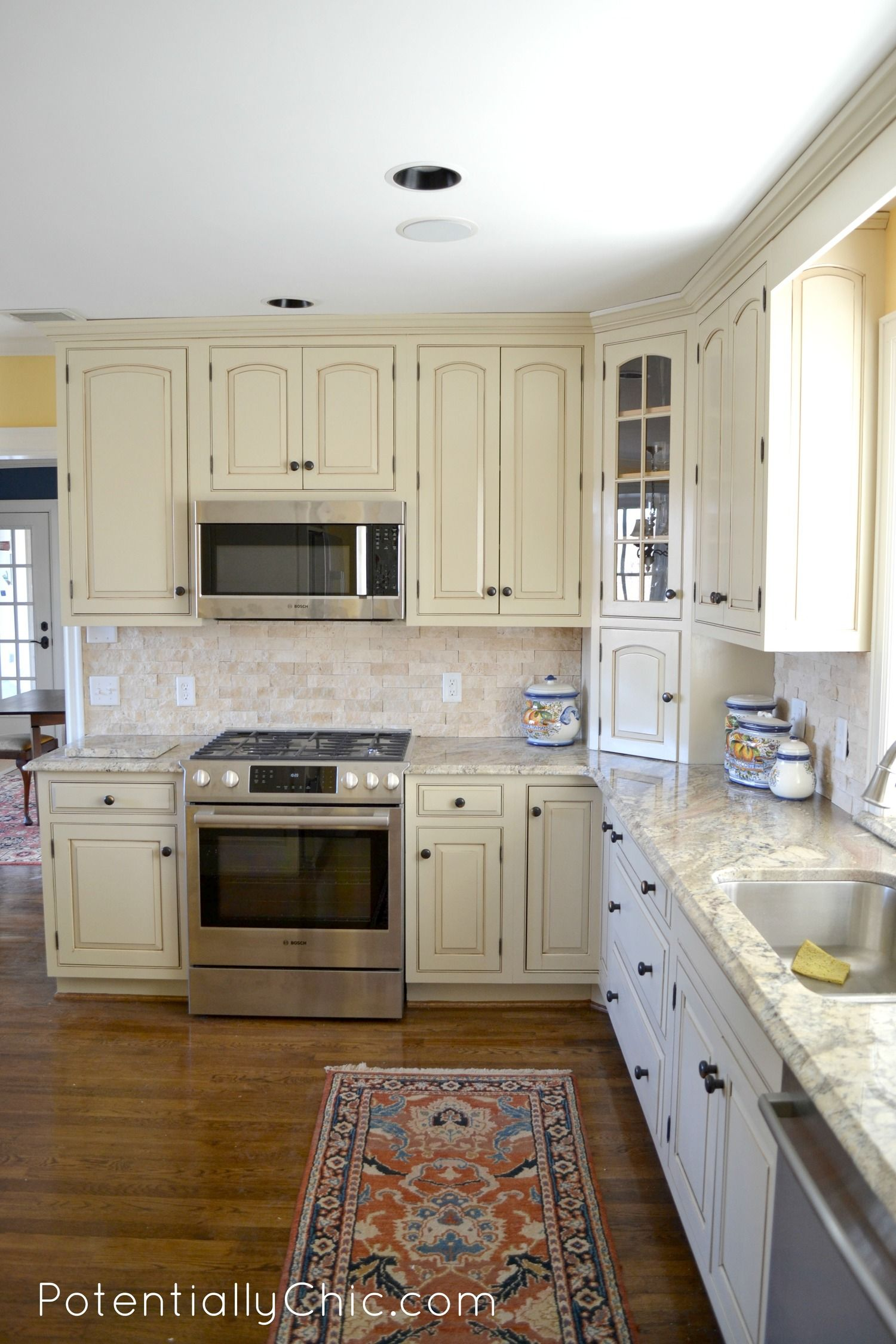 From Dark To Light A Kitchen Makeover Painting Kitchen Cabinets Best Kitchen Cabinet Paint Milk Paint Kitchen Cabinets