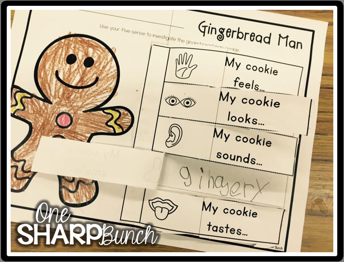 One Sharp Bunch Gingerbread Five Senses Freebie