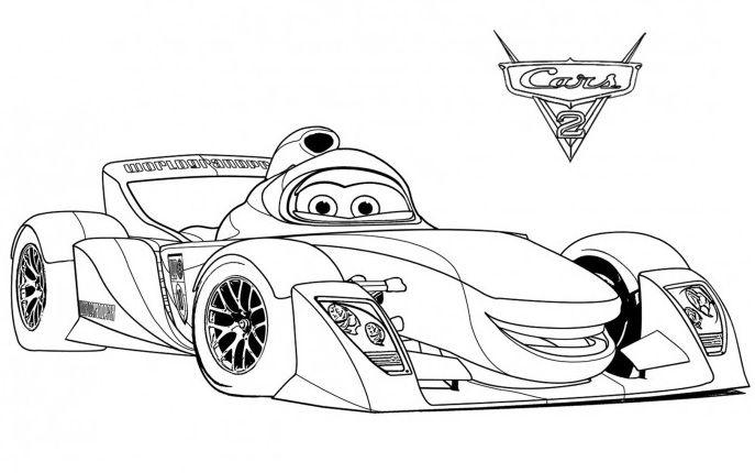 Cómo Dibujar Y Colorear A Rayo De Los Cars 3 Disney: Cars 1 Dibujos Para Colorear