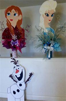 Frozen Party : Frozen Party- Centerpiece- Handpainted