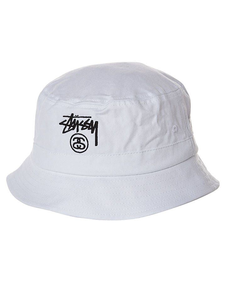 Stock Lock Bucket Hat in White by Stussy -  32.00 CAN  14195be1f7