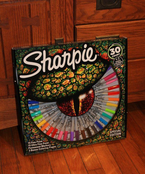 30 Count Sharpie Markers Limited Edition Box Set Pack Fine Etsy Sharpie Sharpie Set Sharpie Markers