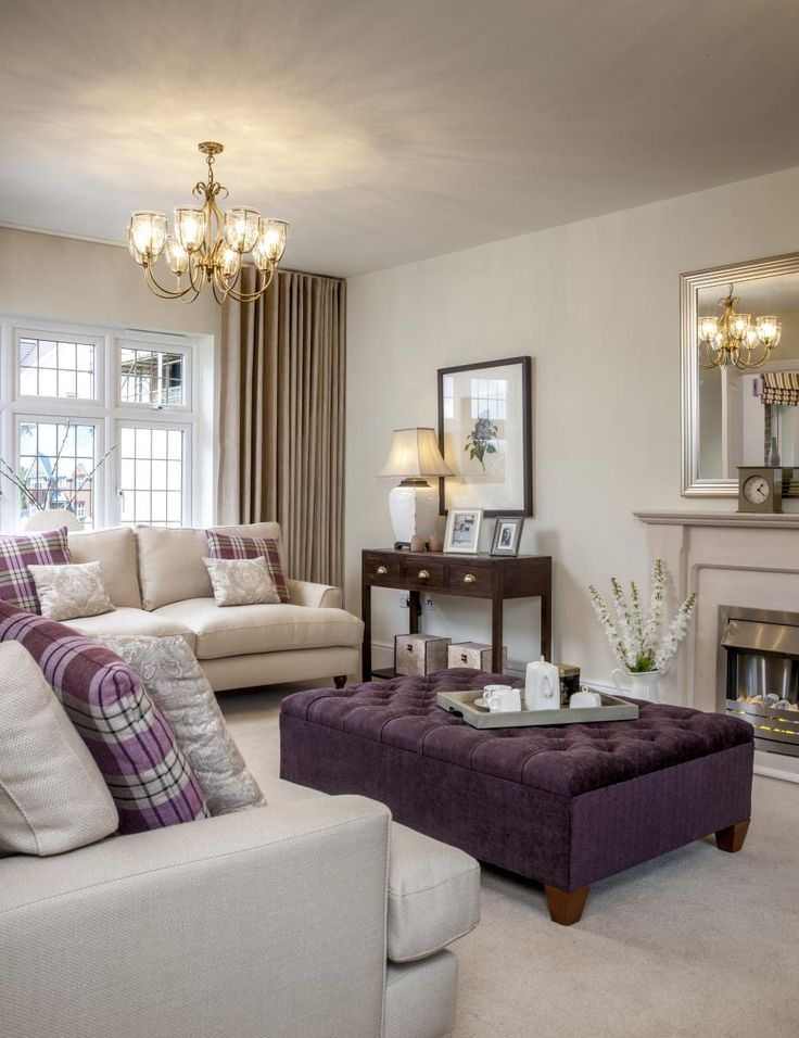 Create the perfect living room for your home by optimizing the color, lighting, furniture placement, accessories, and more. Your title here   Silver living room, Purple living room ...