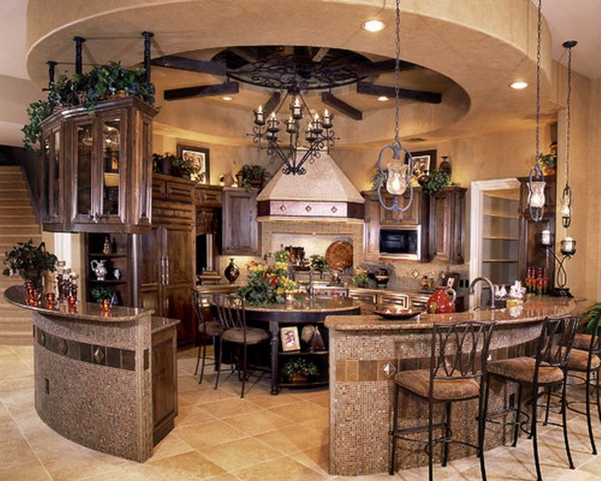 Decoration Incomparable Round Kitchen Islands With Seating And Breakfast Bar Ideas Also Rustic Metal Pendant Lighting
