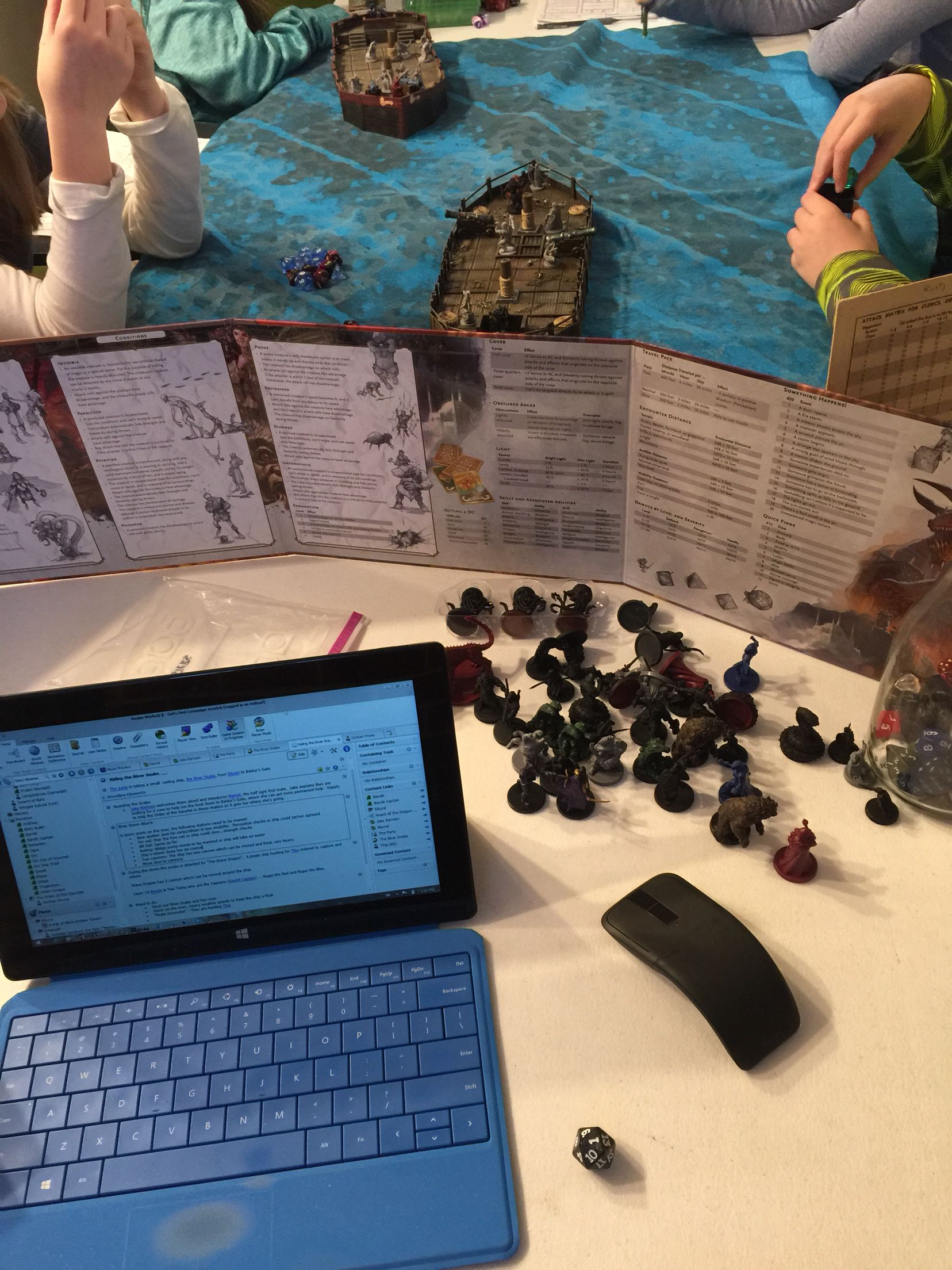 Ship to ship combat in DnD 5e with Realm Works.