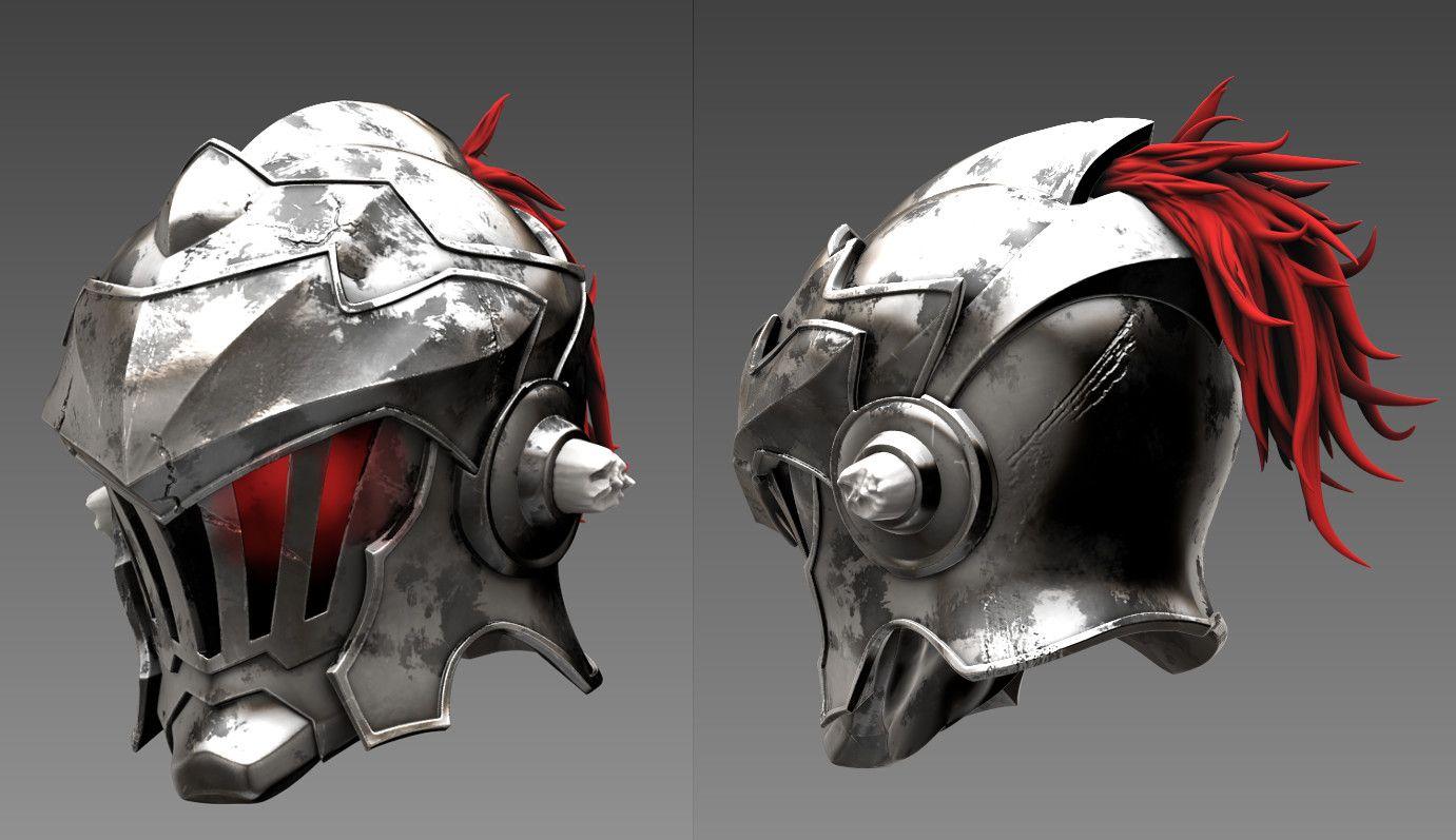 Artstation Goblin Slayer Helmet 3d Fanart Loong Nick