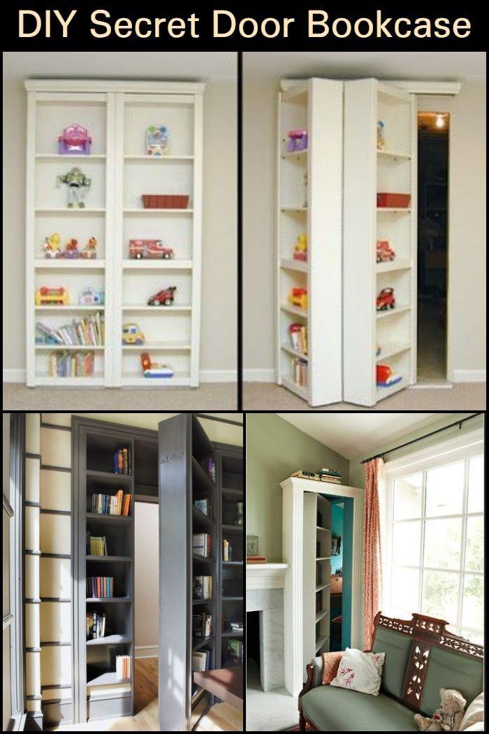 Turn a bookcase into a secret door Bookcase door, Secret