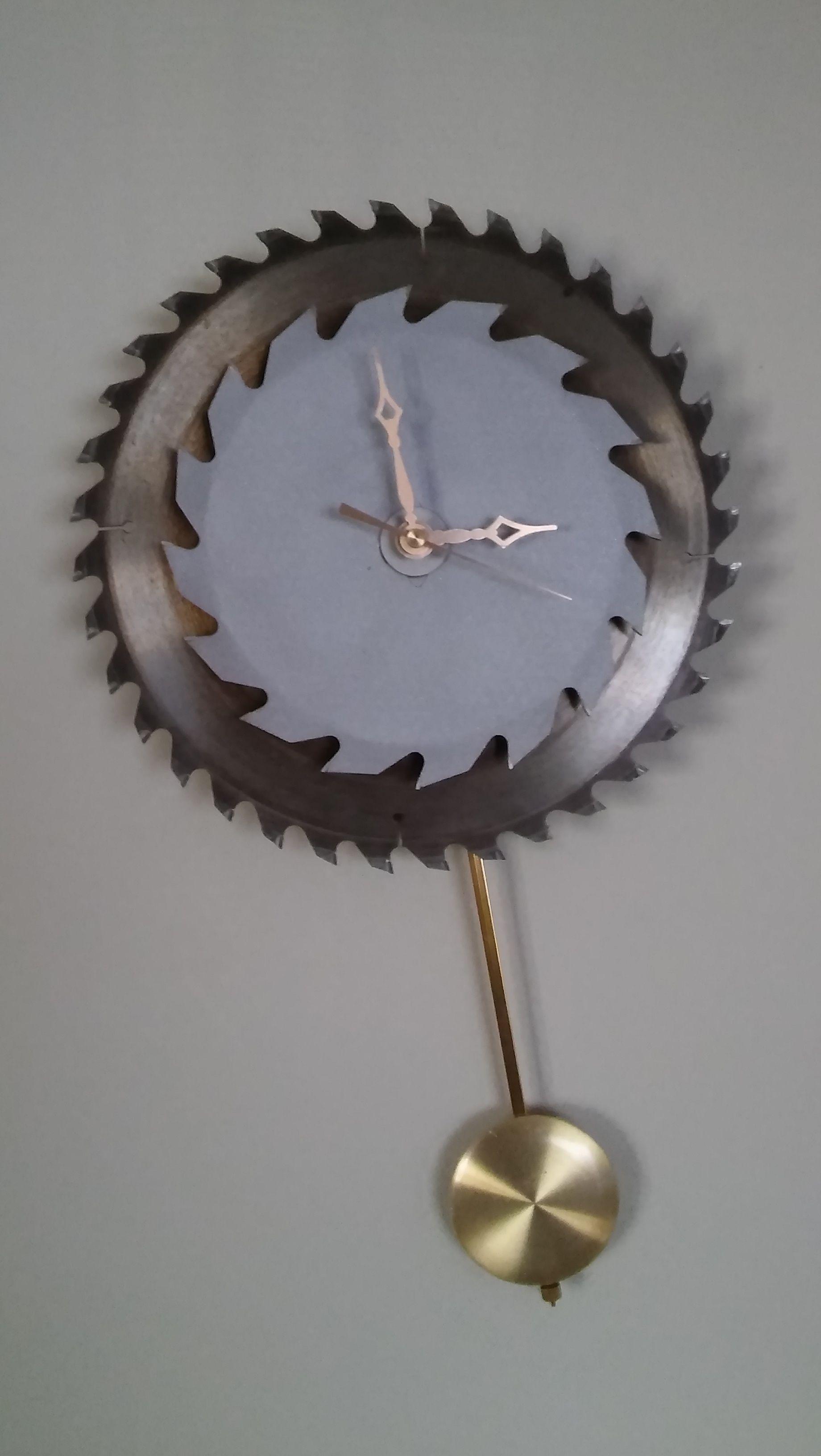 Pendulum Clock Made From Circular Saw Blades Circular
