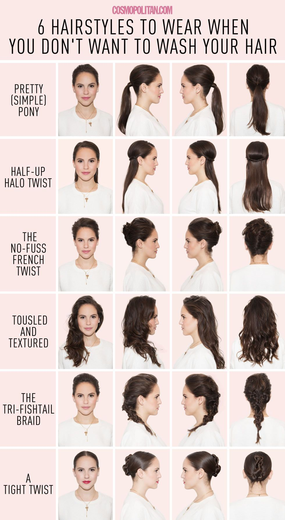 hairstyles for when you just canut wash your hair hair style