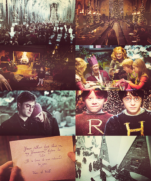 christmas at hogwarts harry potter happy christmas this just makes me happy - Happy Christmas Harry