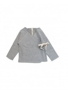 GRAY LABEL Organic Crossover Top / Grey Melange