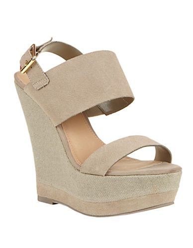Steven Warmthh Leather Wedge Sandals