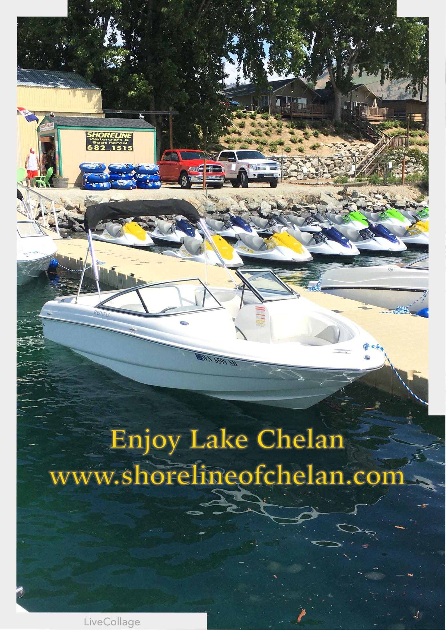 Jet skis on lake chelan at shoreline watercraft
