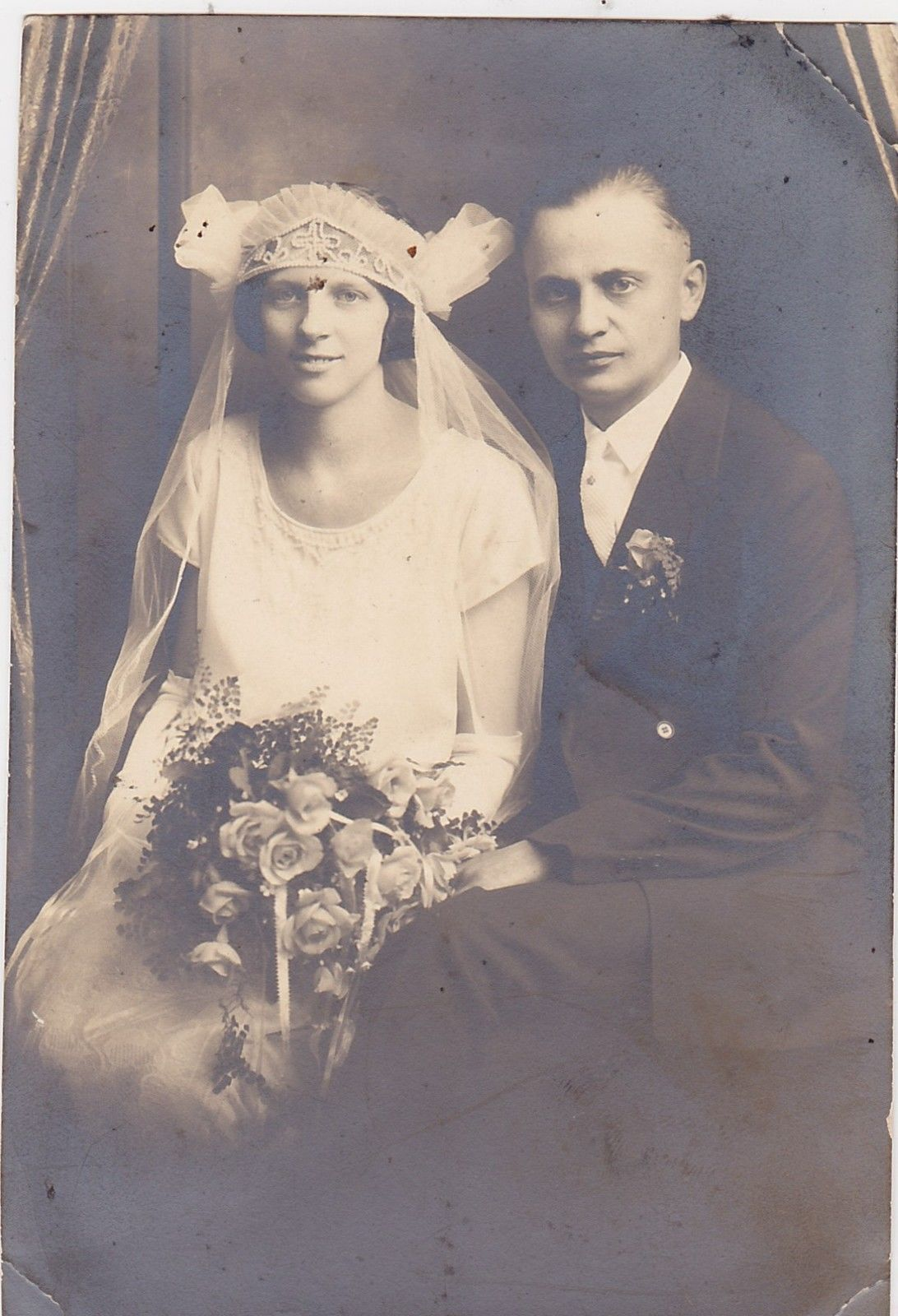 Vintage 6x4 Wedding Photo 355 Bride and Groom | eBay