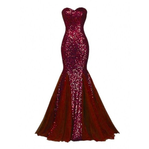 Amazon.com: Winnie Bride Sparkly Sequins Evening Prom Ball Gown ...