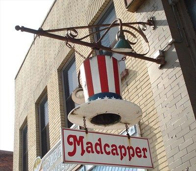 This Unique Artistic Shop Sign is located at 224 Main Street S, Stillwater, Minnesota.