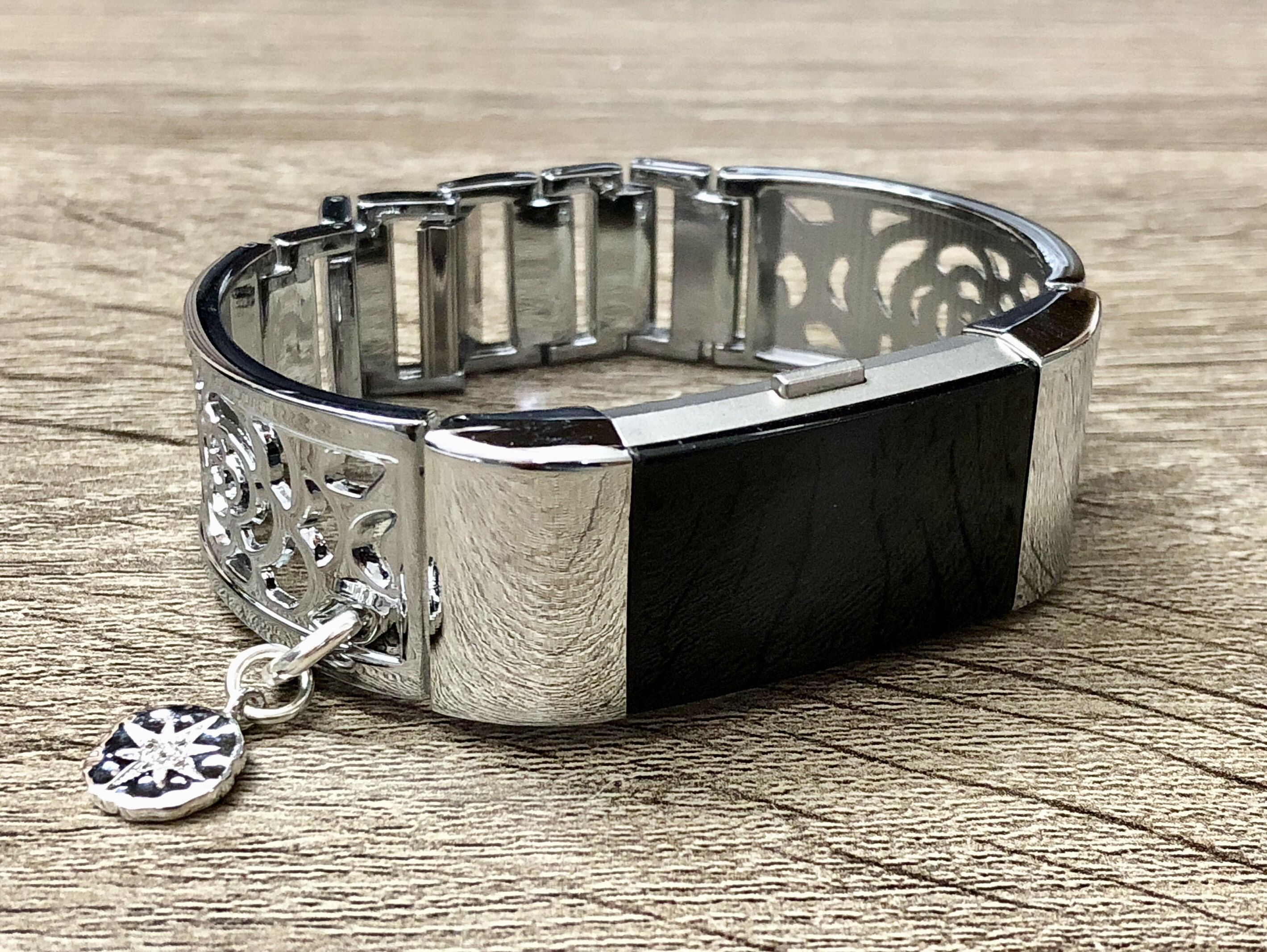 Fitbit charge band women shiny metal fitbit band jewelry