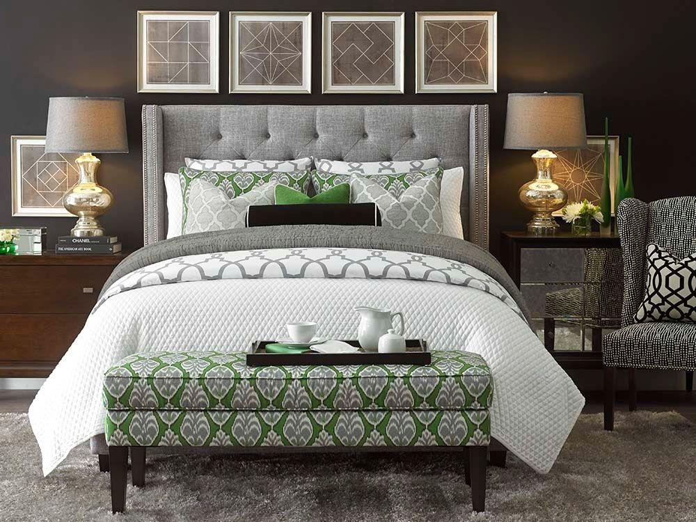Transitional Master Bedroom With Bassett Furniture Metro