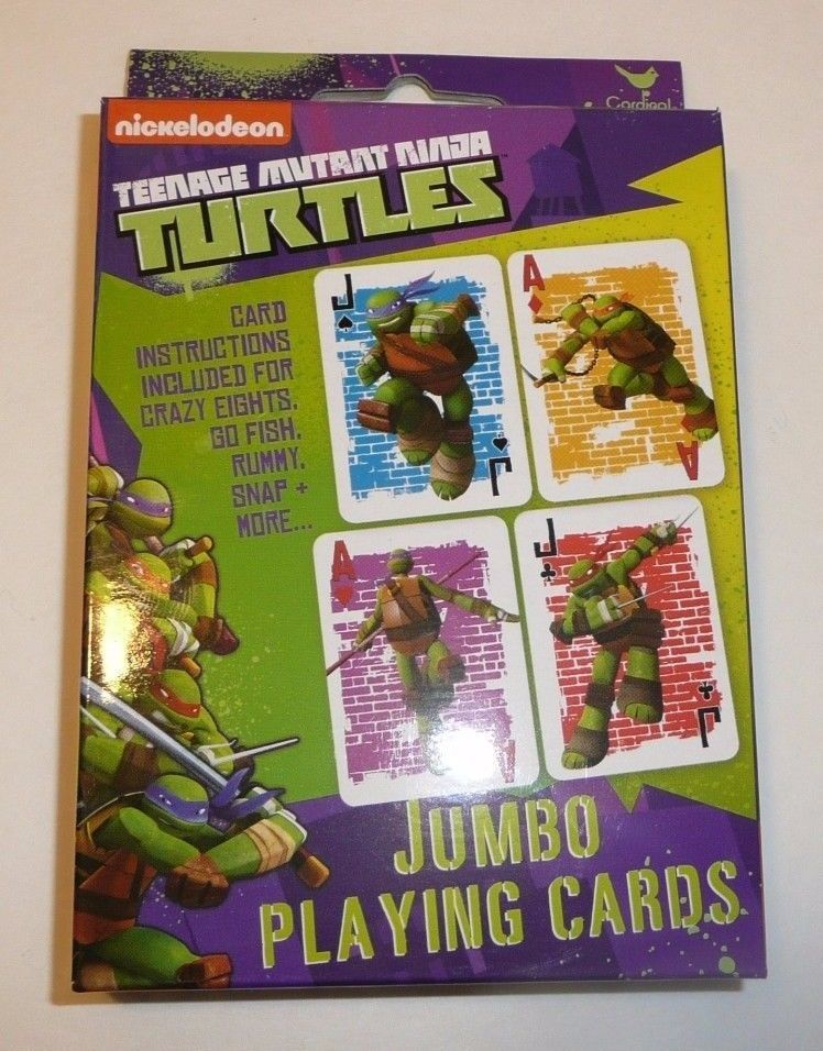 Teenage Mutant Ninja Turtles Jumbo Childrens Playing Cards