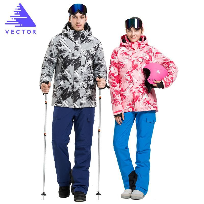VECTOR Professional Men Women Ski Suits Jackets + Pants Warm Winter  Waterproof Skiing Snowboarding Clothing Set Brand. Yesterday s price  US   172.99 (153.53 ... 3233584e1