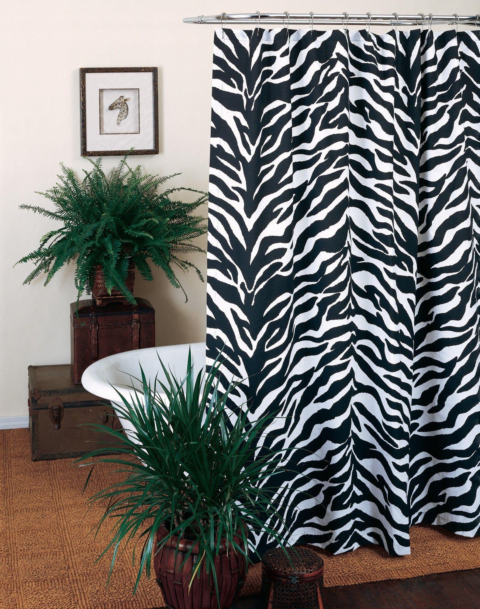 Zebra Shower Curtain Cool Shower Curtains Printed Shower