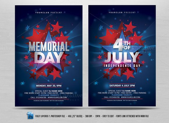 July 4th/Memorial Day Flyer | Flyers