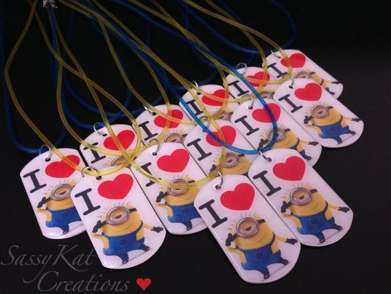 Minion Party Favors by SassyKatCreations10 on Etsy, $6.00